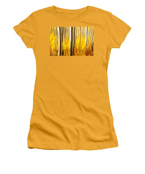 Women's T-Shirt (Junior Cut) featuring the photograph Fall Abstract by Ronda Kimbrow