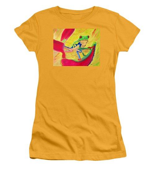 Rainforest Melody Women's T-Shirt (Junior Cut) by Meryl Goudey