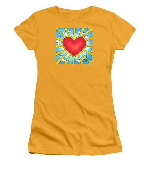 Heart Shine Women's T-Shirt (Athletic Fit)