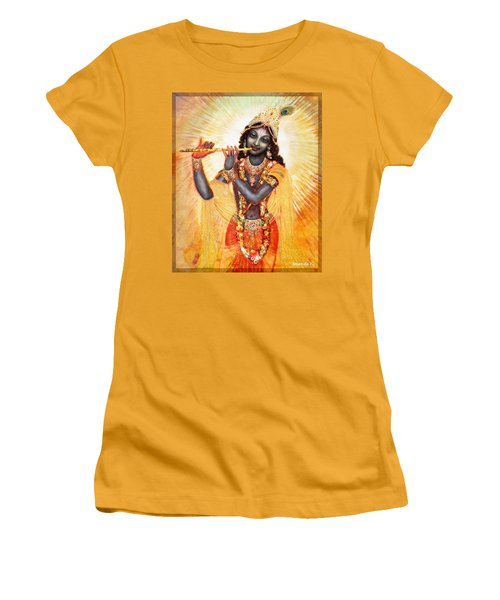 Krishna With The Flute Women's T-Shirt (Athletic Fit)
