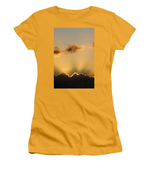 Sun Rays And Dark Clouds Women's T-Shirt (Athletic Fit)
