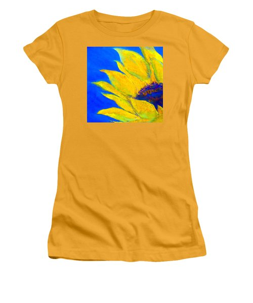 Sunflower In Blue Women's T-Shirt (Athletic Fit)