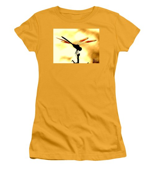 The Light Of Flight Upon The Mosquito Hawk At The Mississippi River In New Orleans Louisiana Women's T-Shirt (Athletic Fit)