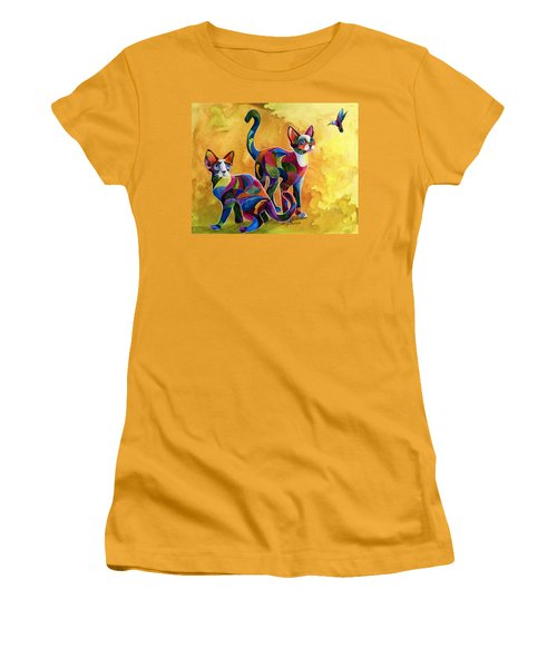 Watch The Birdie Women's T-Shirt (Junior Cut) by Sherry Shipley