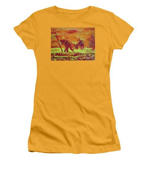 Hot Potatoes Women's T-Shirt (Junior Cut) by Linda Simon