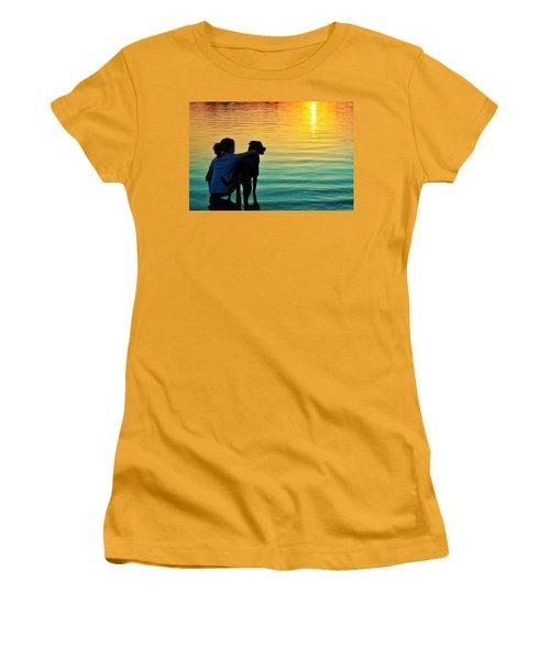 Island Women's T-Shirt (Junior Cut) by Laura Fasulo