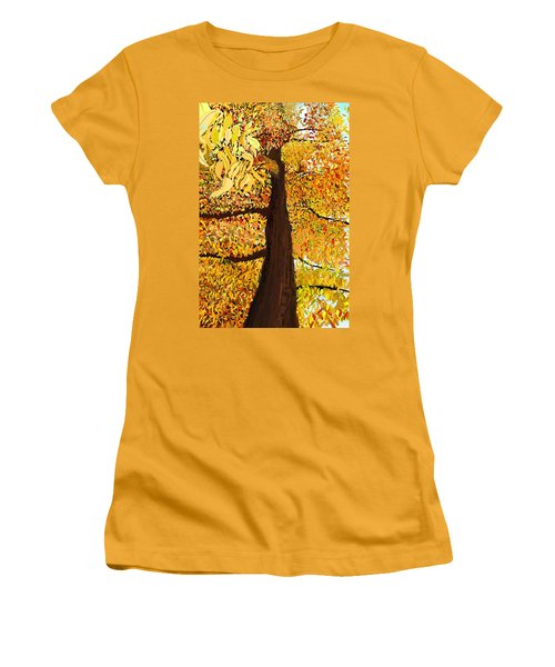 Up Tree Women's T-Shirt (Athletic Fit)