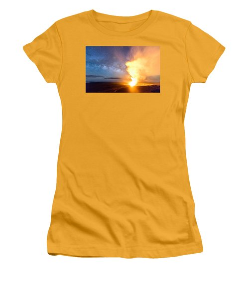 A Cosmic Fire Women's T-Shirt (Athletic Fit)