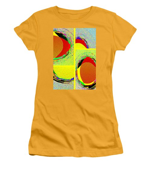 Women's T-Shirt (Athletic Fit) featuring the digital art Abstract Fusion 199 by Will Borden
