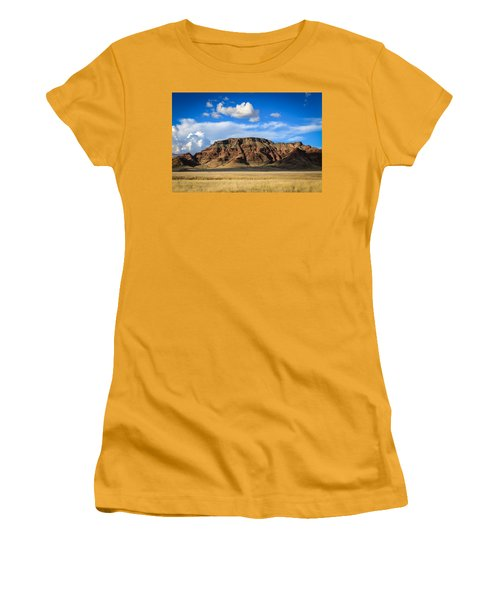 Aferican Grass And Mountain In Sossusvlei Women's T-Shirt (Athletic Fit)