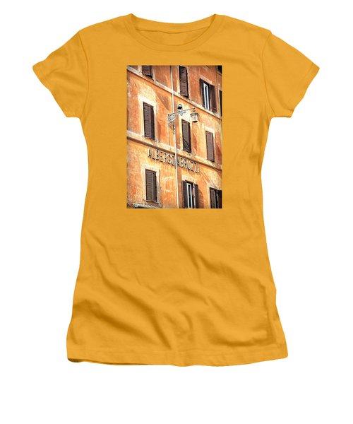 Albergo Abruzzi Women's T-Shirt (Junior Cut) by Valentino Visentini