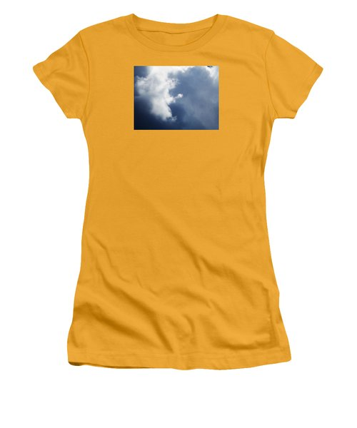 Cloud Angel Kneeling In Prayer Women's T-Shirt (Athletic Fit)