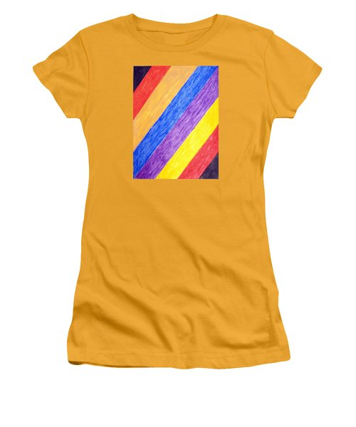 Women's T-Shirt (Junior Cut) featuring the painting Angles by Stormm Bradshaw
