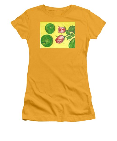 Apples And Roses Women's T-Shirt (Athletic Fit)