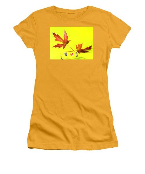 Artist De Imagination Little People Big Worlds Women's T-Shirt (Junior Cut) by Paul Ge