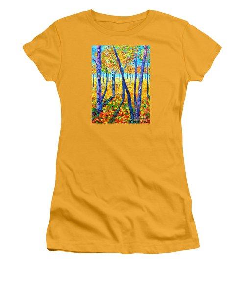 Autumn Colors Women's T-Shirt (Junior Cut) by Ana Maria Edulescu