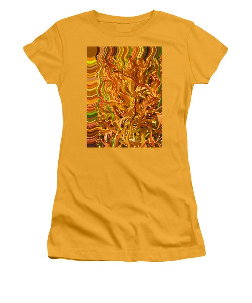 Autumn Leaves 5 - Abstract Photography - Manipulate Images Women's T-Shirt (Athletic Fit)