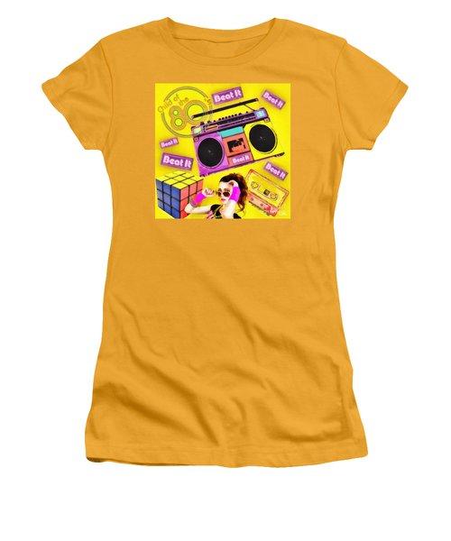 Beat It Women's T-Shirt (Junior Cut) by Mo T