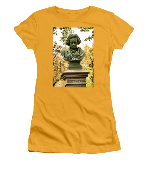 Beethoven In Central Park Women's T-Shirt (Athletic Fit)