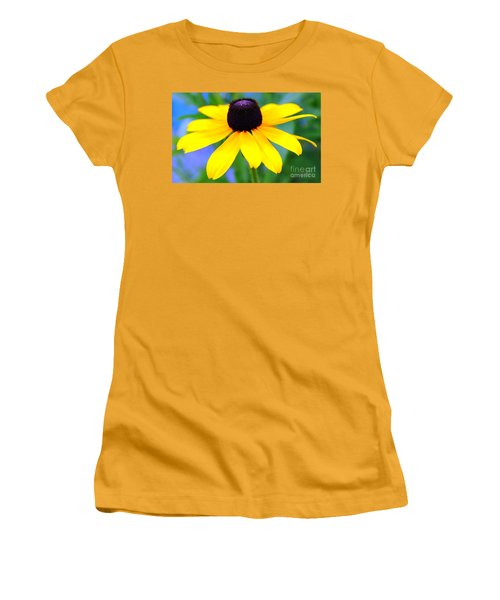 Women's T-Shirt (Junior Cut) featuring the photograph Black Eyed Susan by Judy Palkimas