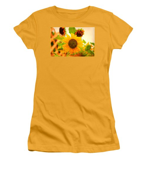 Blossoming Sunflower Beauty Women's T-Shirt (Athletic Fit)