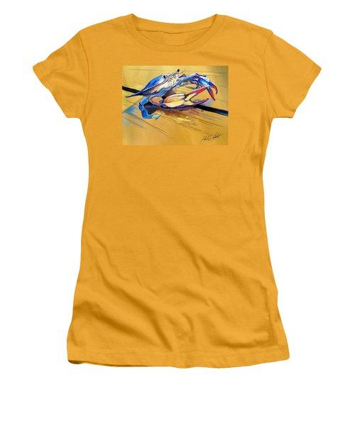 Blue Crabbie  Women's T-Shirt (Athletic Fit)