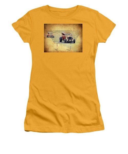 Bonneville Rodz Women's T-Shirt (Junior Cut) by Steve McKinzie