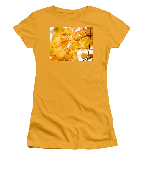 Branching Yellow Women's T-Shirt (Athletic Fit)