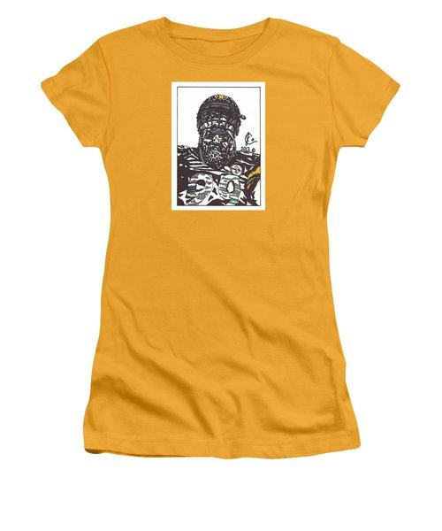 Brett Keisel 2 Women's T-Shirt (Junior Cut) by Jeremiah Colley