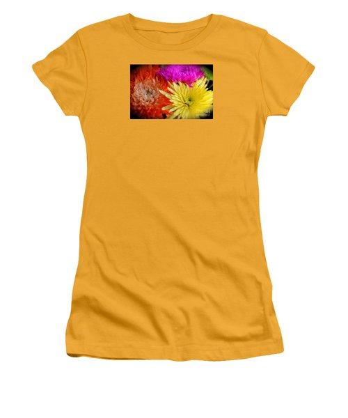 Bright Chrysanthemums Women's T-Shirt (Junior Cut) by The Art of Alice Terrill
