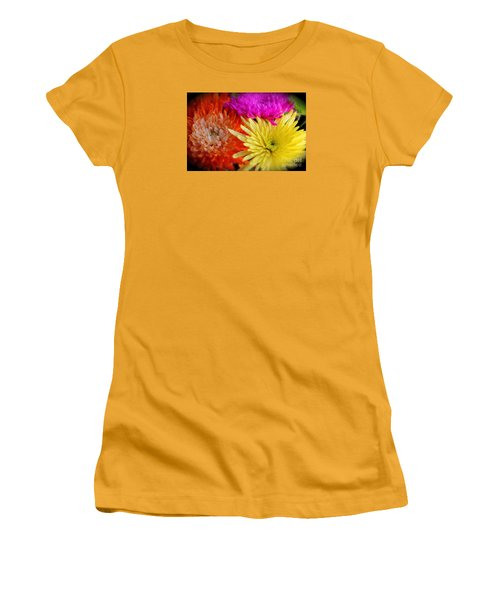 Bright Chrysanthemums Women's T-Shirt (Athletic Fit)