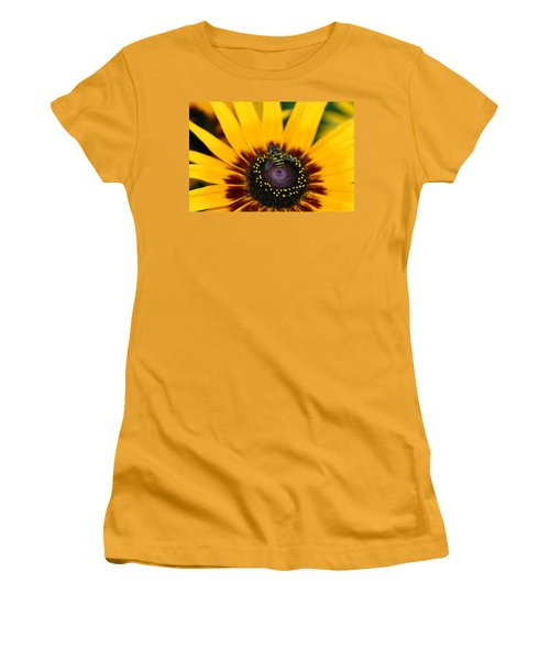 Women's T-Shirt (Junior Cut) featuring the photograph Busy Bee by Denyse Duhaime