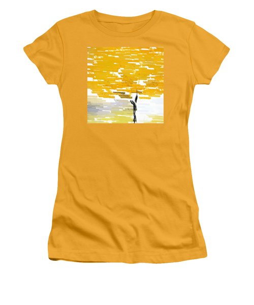 Classy Yellow Tree Women's T-Shirt (Athletic Fit)