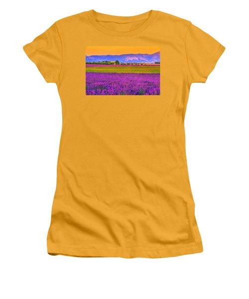 Colors Of Provence Women's T-Shirt (Junior Cut) by Midori Chan