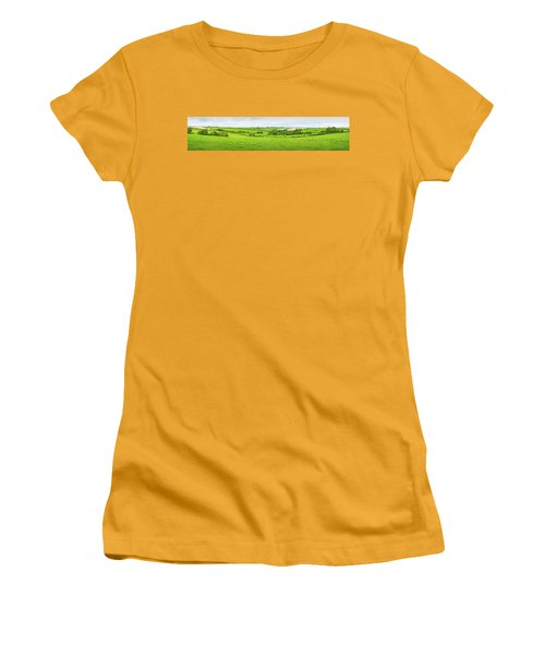 Cornwall Panorama Color Women's T-Shirt (Junior Cut) by Chevy Fleet
