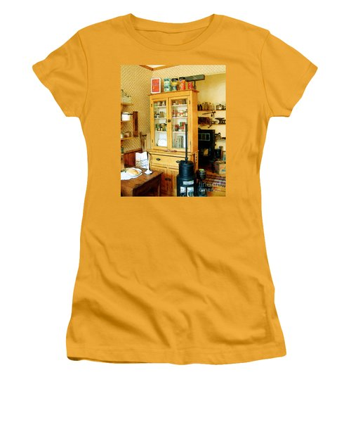 Women's T-Shirt (Junior Cut) featuring the painting Country Kitchen Sunshine IIi by RC deWinter