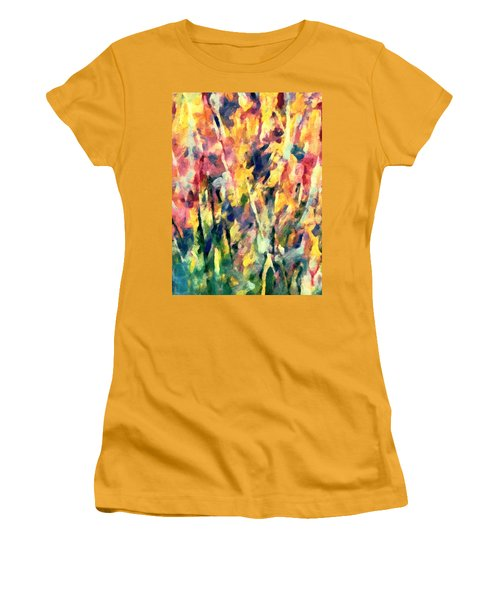 Crescendo Of Spring Abstract Women's T-Shirt (Athletic Fit)