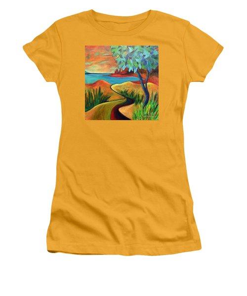 Crimson Shore Women's T-Shirt (Athletic Fit)