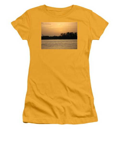 Women's T-Shirt (Junior Cut) featuring the photograph Crocodile Eye by Kathy Barney