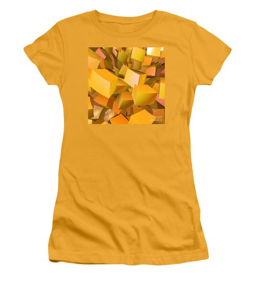 Cubist Melon Burst By Jammer Women's T-Shirt (Athletic Fit)