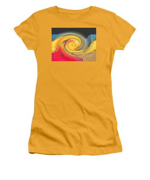 Women's T-Shirt (Junior Cut) featuring the photograph Curb Swirl by Brooks Garten Hauschild