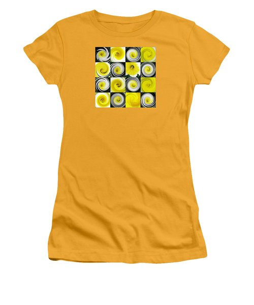 Daffodil Spring Mosaic Women's T-Shirt (Athletic Fit)