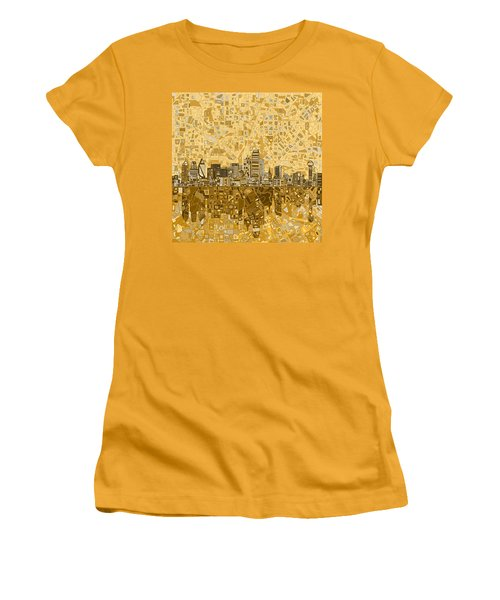 Dallas Skyline Abstract 6 Women's T-Shirt (Athletic Fit)