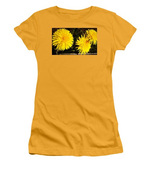 Women's T-Shirt (Junior Cut) featuring the photograph Dandelion Weeds? by Martin Howard