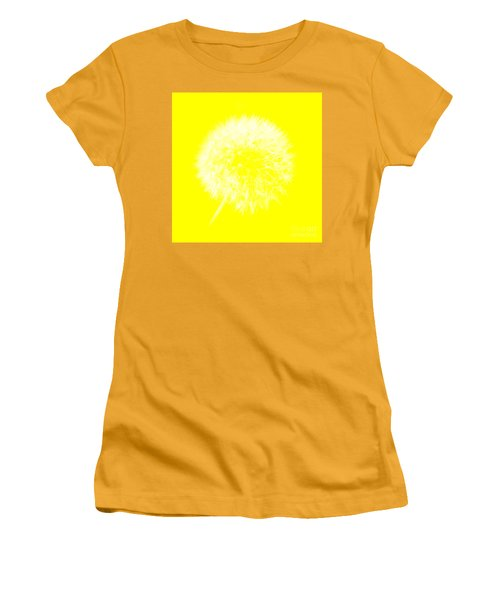 Women's T-Shirt (Athletic Fit) featuring the digital art Dandylion Yellow by Clayton Bruster