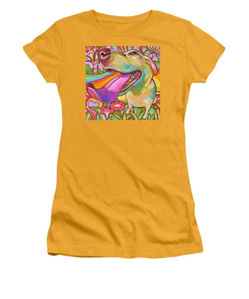 Women's T-Shirt (Junior Cut) featuring the painting Dog Daze Of Summer by Robert Phelps