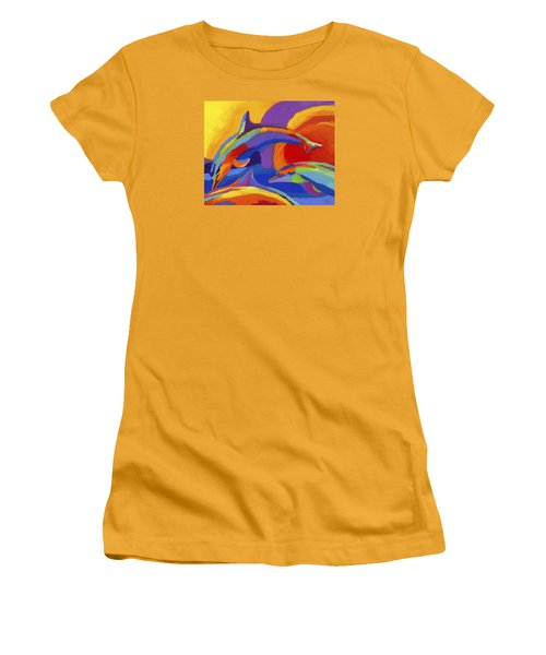 Dolphin Dance Women's T-Shirt (Athletic Fit)
