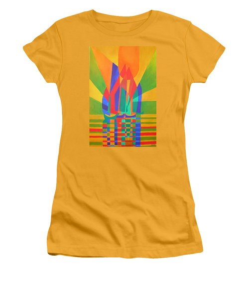 Women's T-Shirt (Junior Cut) featuring the painting Dreamboat by Tracey Harrington-Simpson
