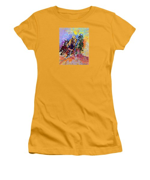 Women's T-Shirt (Junior Cut) featuring the digital art Dynamic Winner by Mary Armstrong