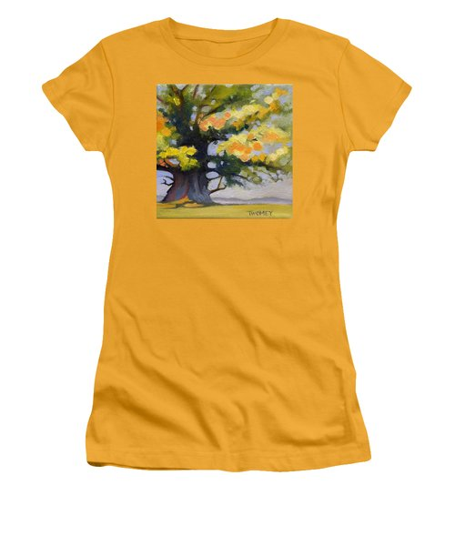 Earlysville Virginia Ancient White Oak Women's T-Shirt (Junior Cut) by Catherine Twomey